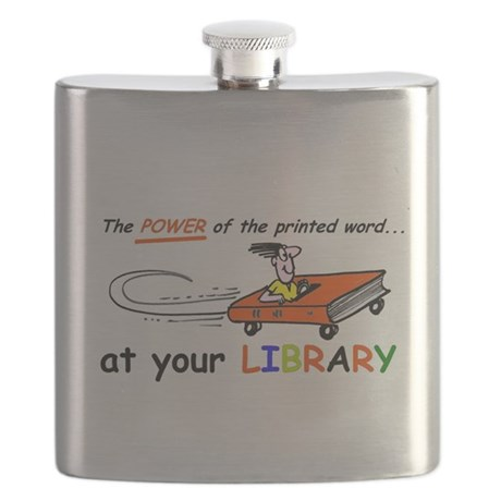 library cartoon special Flask