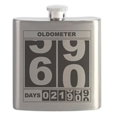 60th Birthday Oldometer Flask