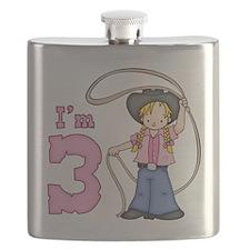 Cowgirl Roper 3rd Birthday Flask