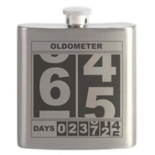 65th Birthday Oldometer Flask