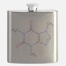 Caffeine molecule Flask