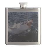 Great white shark Flask Bottles