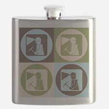 Mining Pop Art Flask