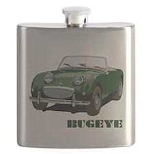 Green Bugeye Flask