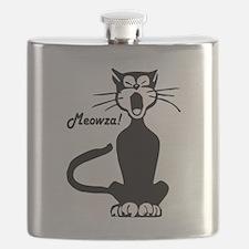 Meowza! 1950's Cartoon Cat Flask