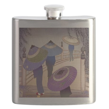 Rain Blossoms Flask
