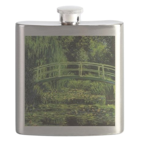 Monet Water Lily Pond Flask