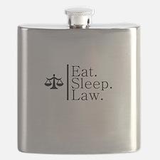 Eat. Sleep. Law. (Scales) Flask