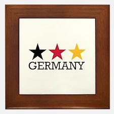 Germany stars flag Framed Tile