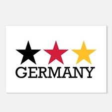 Germany stars flag Postcards (Package of 8)