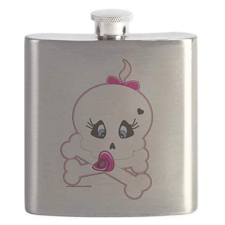 Baby Skull and Crossbones Flask