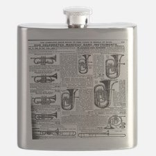 Sears Catalog Tuba Page Flask