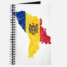 Moldova Flag And Map Journal