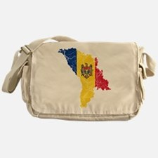 Moldova Flag And Map Messenger Bag