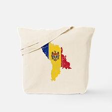 Moldova Flag And Map Tote Bag