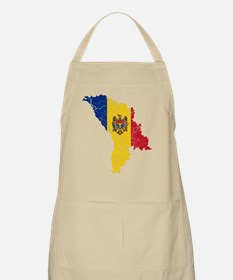 Moldova Flag And Map Apron
