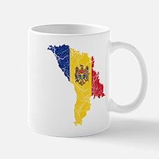 Moldova Flag And Map Mug