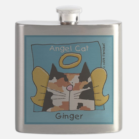 GINGER Calico Cat Memorial Flask