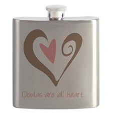Doulas All Heart Brown Flask