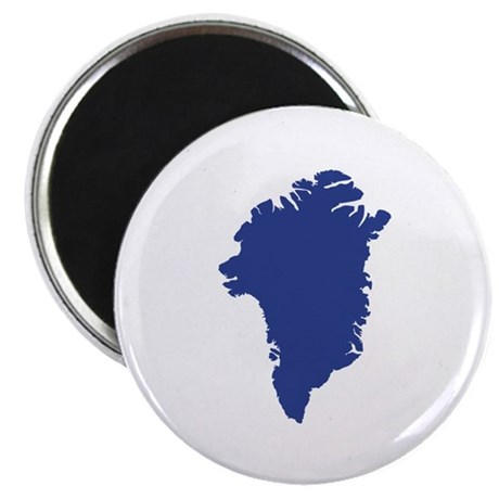 """Greenland map 2.25"""" Magnet (100 pack)"""