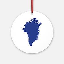 Greenland map Ornament (Round)