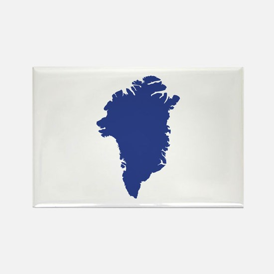 Greenland map Rectangle Magnet