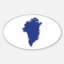 Greenland map Decal
