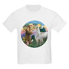 Saint Francis with Llama Mama & Baby T-Shirt