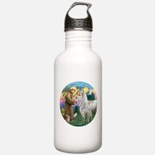 Saint Francis with Llama Mama & Baby Water Bottle