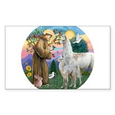 Saint Francis with Llama Mama & Baby Decal