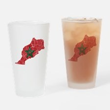 Morocco Flag And Map Drinking Glass