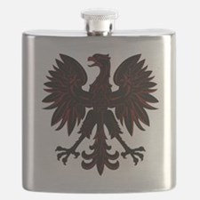 Polish Eagle red and black Flask