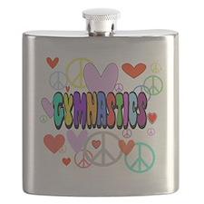 Peace-Love-Gymnastics Flask