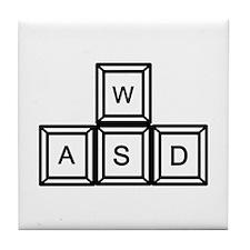 WASD keys Gaming Tile Coaster
