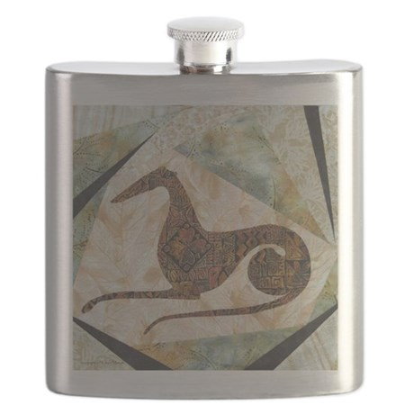Tribal Greyhound Flask