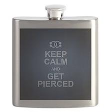 Keep Calm & Get Pierced Flask