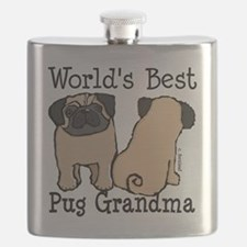 World's Best Pug Grandma Flask