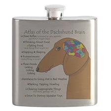 Dachshund Brain Atlas Flask