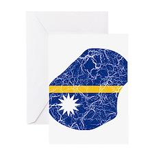 Nauru Flag And Map Greeting Card