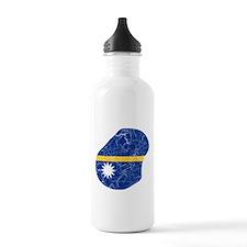 Nauru Flag And Map Water Bottle