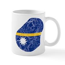 Nauru Flag And Map Mug