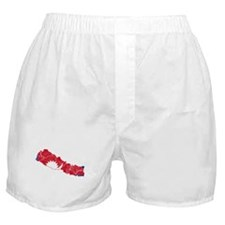 Nepal Flag And Map Boxer Shorts