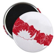 """Nepal Flag And Map 2.25"""" Magnet (10 pack)"""