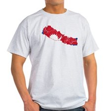 Nepal Flag And Map T-Shirt