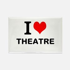 I LOVE THEATRE Rectangle Magnet (10 pack)
