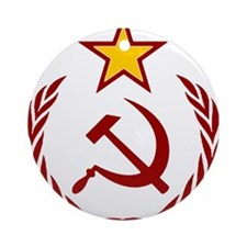 HAMMER SICLE THE STAR Ornament (Round)