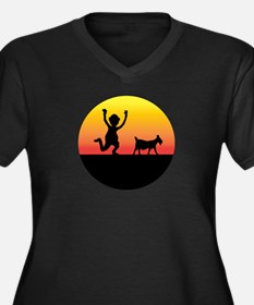 NEW GOAT SILHOUETTE.png Women's Plus Size V-Neck D