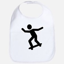 Skateboarding icon Bib