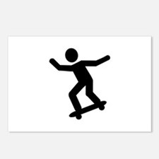 Skateboarding icon Postcards (Package of 8)