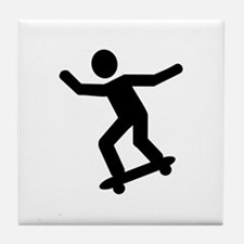 Skateboarding icon Tile Coaster